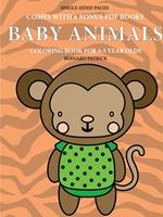 Coloring Book for 4-5 Year Olds (Baby Animals) 0244561990 Book Cover