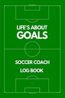 Soccer Coach Log Book - Court Cover: Personalized Soccer Trainer Logbook and Tracker - Best Coaching Gift Idea to Track Daily Workouts and Custom Training 1657964639 Book Cover