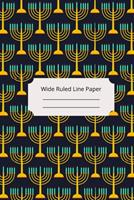 Jewish Art Inspirational, Motivational and Spiritual Theme Wide Ruled Line Paper 1676580298 Book Cover