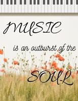 Music is an Outburst of the Soul: Blank Sheet Music Composition Book 1711938157 Book Cover
