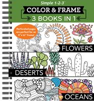 Color  Frame -  3 Books In 1 - Flowers, Deserts, Oceans 1645587614 Book Cover