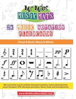 24 Notation Signs Black & White: MrMikesMusicMats 108741444X Book Cover