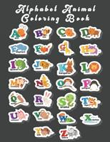 Alphabet Animal Coloring Book: An Activity Book for Toddlers and Preschool Kids to Learn the English Alphabet Letters from A to Z 1654509094 Book Cover