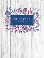 Things To Do Notebook: To Do List for 3 Month Task Management Notebook Daily Checklist Journal Daily Schedule Organizer Hourly Appointment Notebook Daily Meal Planner For Personal Business Time Manage 1676288317 Book Cover