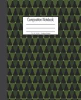 Composition Notebook: 7.5x9.25, College Ruled Green Christmas Trees 1676725911 Book Cover