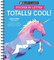 Sticker Puzzles: Totally Cool! (Brain Games - Sticker by Letter) 1640305033 Book Cover