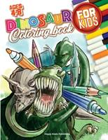 Dinosaur Coloring Book for Kids ages 4-8: With 50 unique illustrations including T-Rex, Stegosaurus, Velociraptors and more! Have fun coloring them all! 1513681745 Book Cover