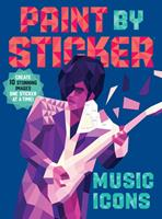 Paint by Sticker: Music Icons: Re-create 12 Classic Photographs One Sticker at a Time! 1523500131 Book Cover