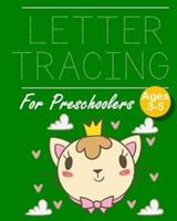 Letter Tracing For Preschoolers Ages 3-5 Little Kitty Theme: Great Kids Alphabet Hand Practice 8'x 10' 150 Pages Letter And Shapes Tracing Workbook / Journal / Holiday Coloring Scrapbook / Planner/ Me 1657350681 Book Cover