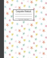 Composition Notebook: 7.5x9.25, Wide Ruled Colorful Stars on White 1676893180 Book Cover