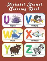 Alphabet Animal Coloring Book: An Activity Book for Toddlers and Preschool Kids to Learn the English Alphabet Letters from A to Z 1654509612 Book Cover