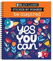 Brain Games - Sticker by Number: Be Inspired - 2 Books in 1 1645585964 Book Cover