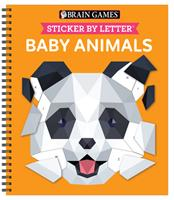 Brain Games - Sticker by Letter: Baby Animals 1645584925 Book Cover