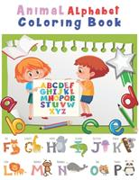 Animal Alphabet Coloring Book: Happy Learning Alphabet Coloring Book. Baby Preschool Activity Book for Kids tracing letters With Lovely Sweet Animals 1654511579 Book Cover
