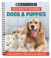 Brain Games - Sticker by Number: Dogs  Puppies (Square Stickers): Create Beautiful Art With Easy to Use Sticker Fun! 1645581756 Book Cover