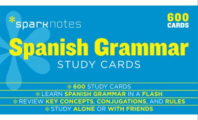 Spanish Grammar Study Cards book by SparkNotes