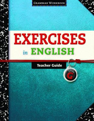 Exercises in English Level G Teacher    book by Loyola Press