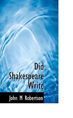 Paperback Did Shakespeare Write Book