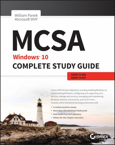 Mcsa Windows 10 Complete Study Guide Book By William Panek