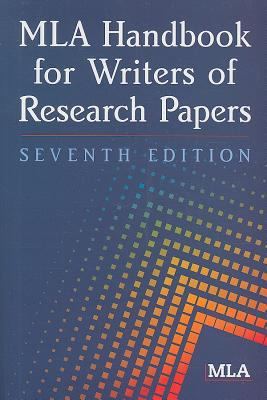 Paperback MLA Handbook for Writers of Research Papers Book