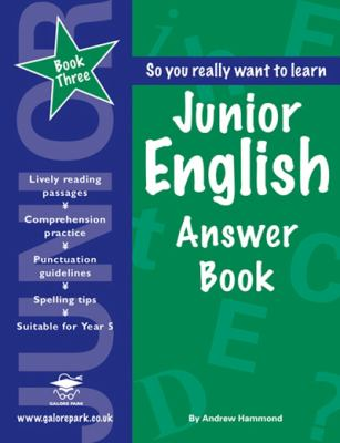 Junior Englishanswer Book Book 3 - Hammond, United Nations Impact Fellow at the Institute of Advanced Study Andrew