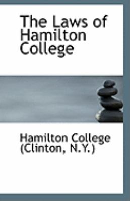 Paperback The Laws of Hamilton College Book