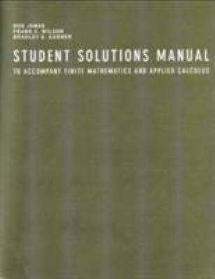 Finite Mathematics and Applied Calculus - Frank C. Wilson