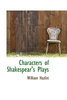 Paperback Characters of Shakespear's Plays Book