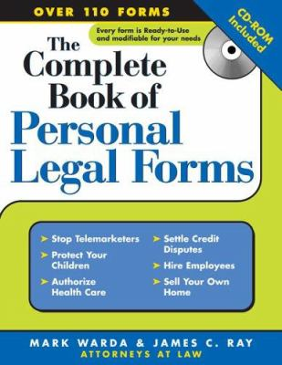 Complete Book Of Personal Legal Forms By Mark Warda - Law forms for personal use