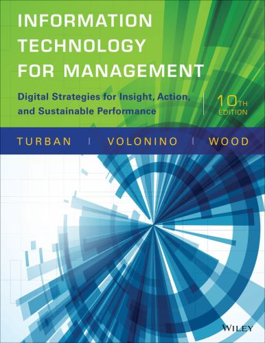 Information Technology For Management Book By Efraim Turban