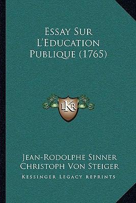 Hardcover Essay Sur L'Education Publique Book