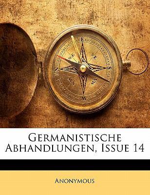Paperback Germanistische Abhandlungen, Issue 13 Book