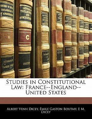 Paperback Studies in Constitutional Law : France--England--United States Book