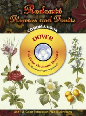 Paperback Redoute Flowers And Fruits Book