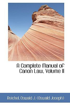 Paperback A Complete Manual of Canon Law Book