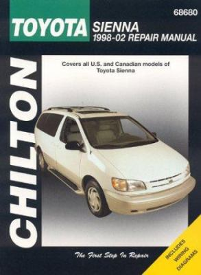 Toyota Sienna 1998-2002 (Chilton's Total... book by Jay Storer on winnebago wiring diagram, am general wiring diagram, grumman llv wiring diagram, manufacturing wiring diagram, champion bus wiring diagram, dmax wiring diagram, packard wiring diagram, geo wiring diagram, cf moto wiring diagram, merkur wiring diagram, bomag wiring diagram, meyers manx wiring diagram, husaberg wiring diagram, jeep wiring diagram, navistar wiring diagram, naza wiring diagram, chevrolet wiring diagram, lincoln wiring diagram, austin healey wiring diagram, case wiring diagram,