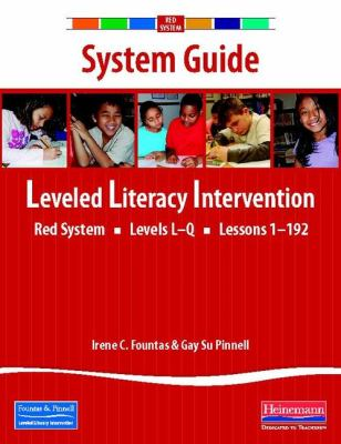 LLI Red System System Guide Book By Irene C Fountas