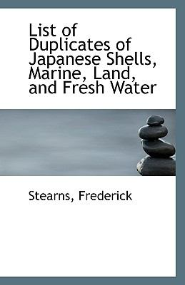 Paperback List of Duplicates of Japanese Shells, Marine, Land, and Fresh Water Book