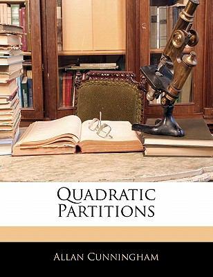Paperback Quadratic Partitions Book