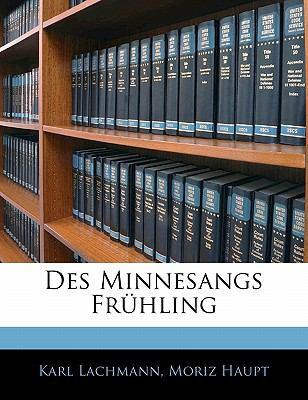 Paperback Des Minnesangs Fr?hling Book