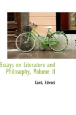 Paperback Essays on Literature and Philosophy Book