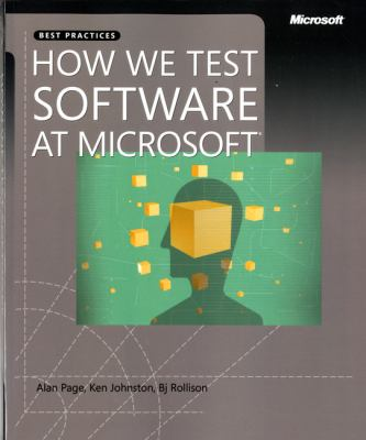 Paperback How We Test Software at Microsoft? Book
