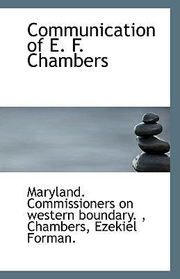 Paperback Communication of E F Chambers Book