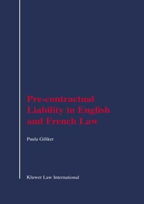 Pre-Contractual Liability in English and French Law - Paula Giliker