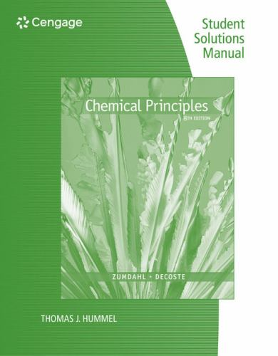 student solutions manual for book by steven s zumdahl rh thriftbooks com Chemical Principles 7th Edition Zumdahl Chemistry 7E