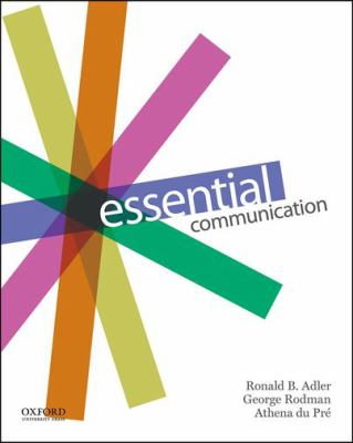 Essential Communication Book By Ronald B Adler