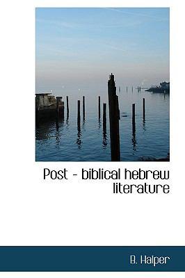 Paperback Post - Biblical Hebrew Literature Book
