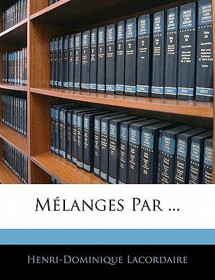 Paperback M?langes Par Book