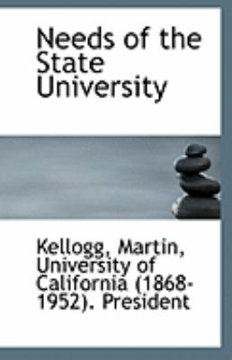 Paperback Needs of the State University Book