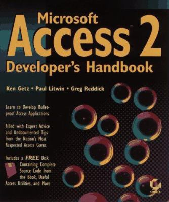 Microsoft Access 2 Developer's Handbook by Ken Getz